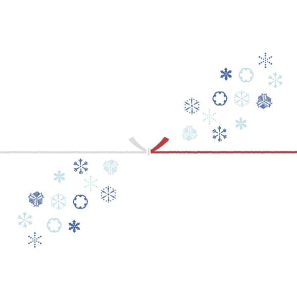 雪の結晶を散りばめたカジュアルなのし紙(結びきり)