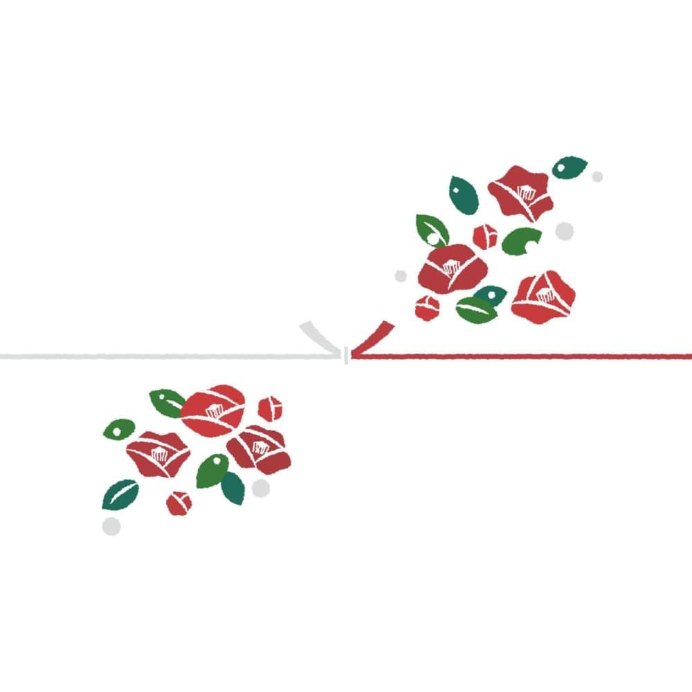 椿の花を散りばめたカジュアルなのし紙(結びきり)