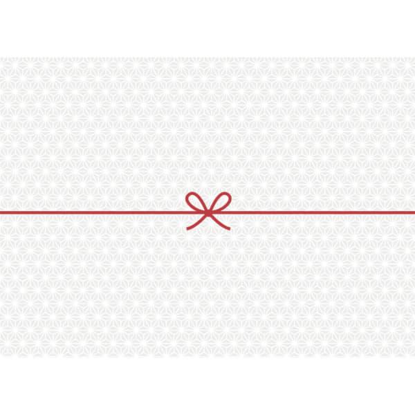 麻の葉柄のカジュアルなのし紙(蝶結び)