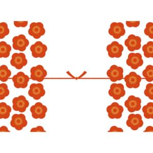 大きな梅の花を散りばめたカジュアルなのし紙(結びきり)
