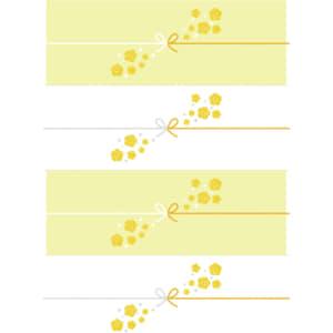切って使える黄色い花を散りばめたのし紙(4分割)