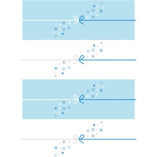 切って使える江戸時代の雪の結晶を散りばめたのし紙(4分割)