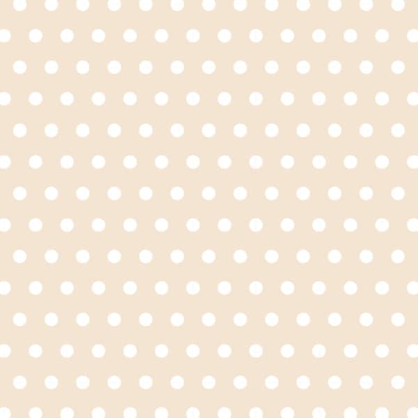 可愛いクリーム色の水玉のラッピング素材
