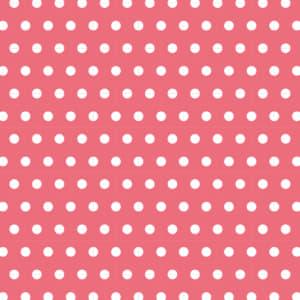 可愛いピンク色の水玉のラッピング素材