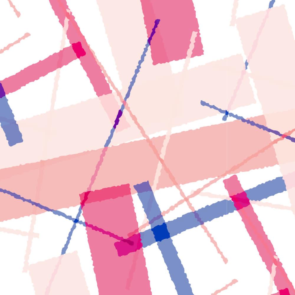 ピンク色の長方形をランダムに重ねた可愛いラッピング素材