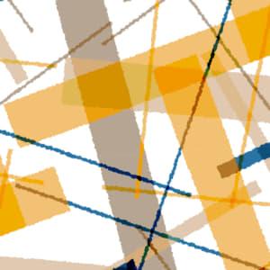 秋色の長方形をランダムに重ねた可愛いラッピング素材