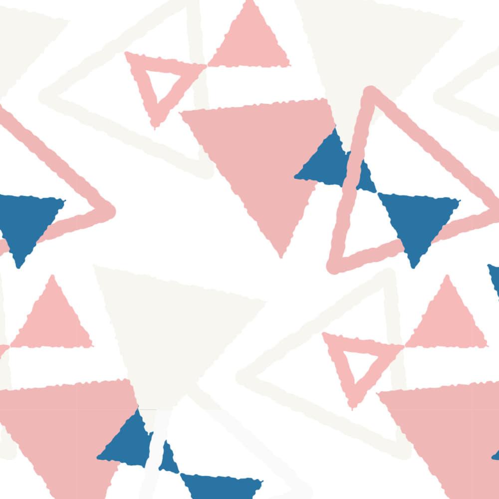 三角を重ねてリボンを作った可愛いラッピング素材