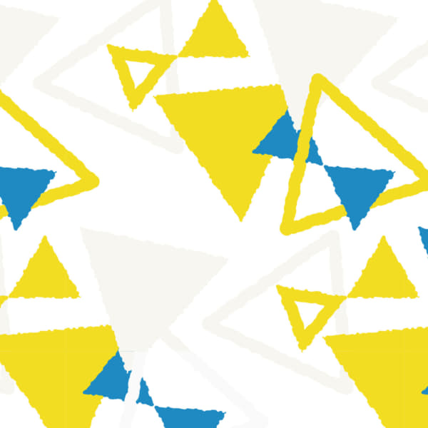 三角を重ねてリボンを作った夏にピッタリのラッピング素材