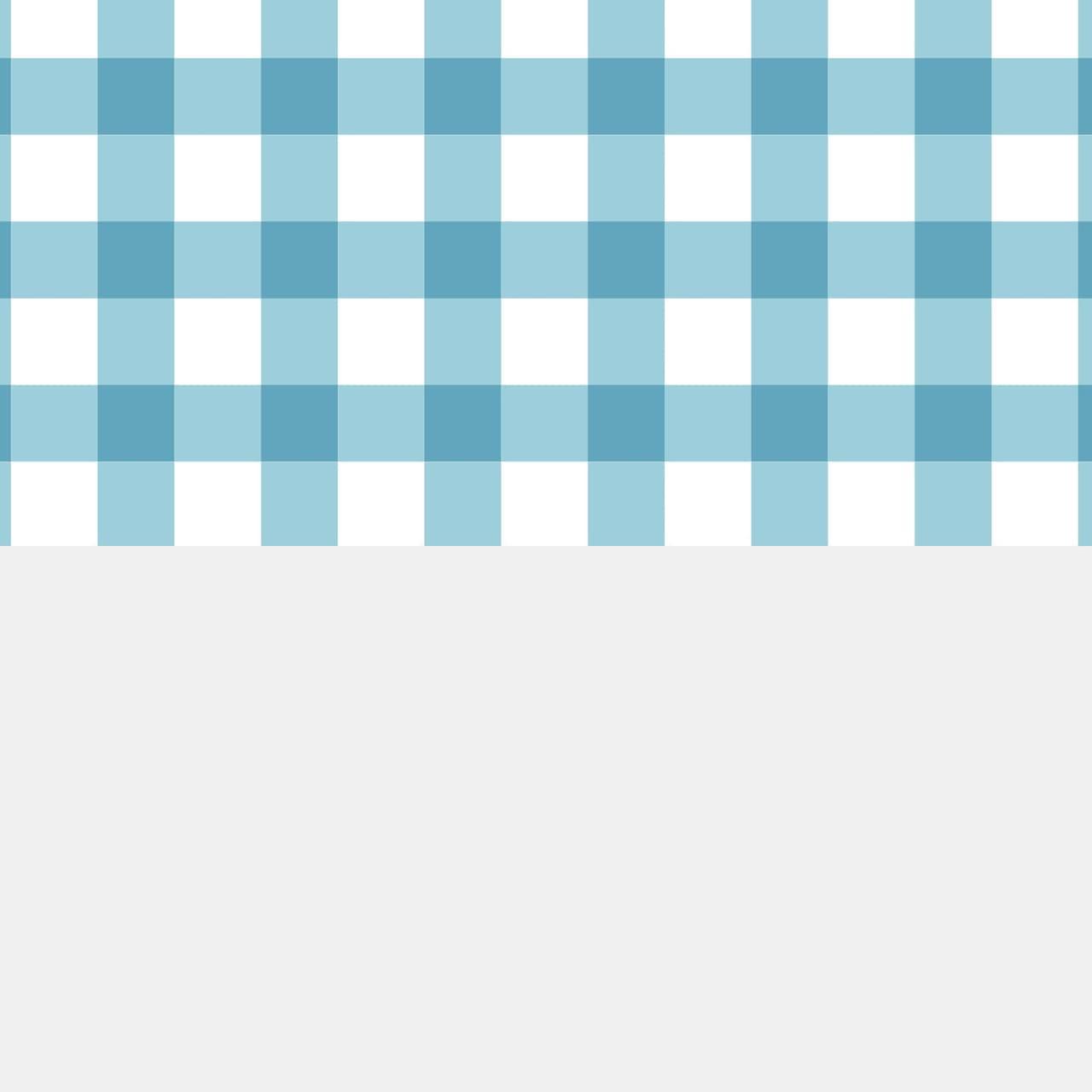 青色のチェックとグレーの使いやすいラッピング素材