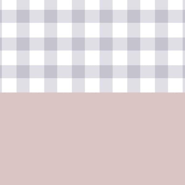 薄い紫色のチェックと落ち着いたピンク色の使いやすいラッピング素材