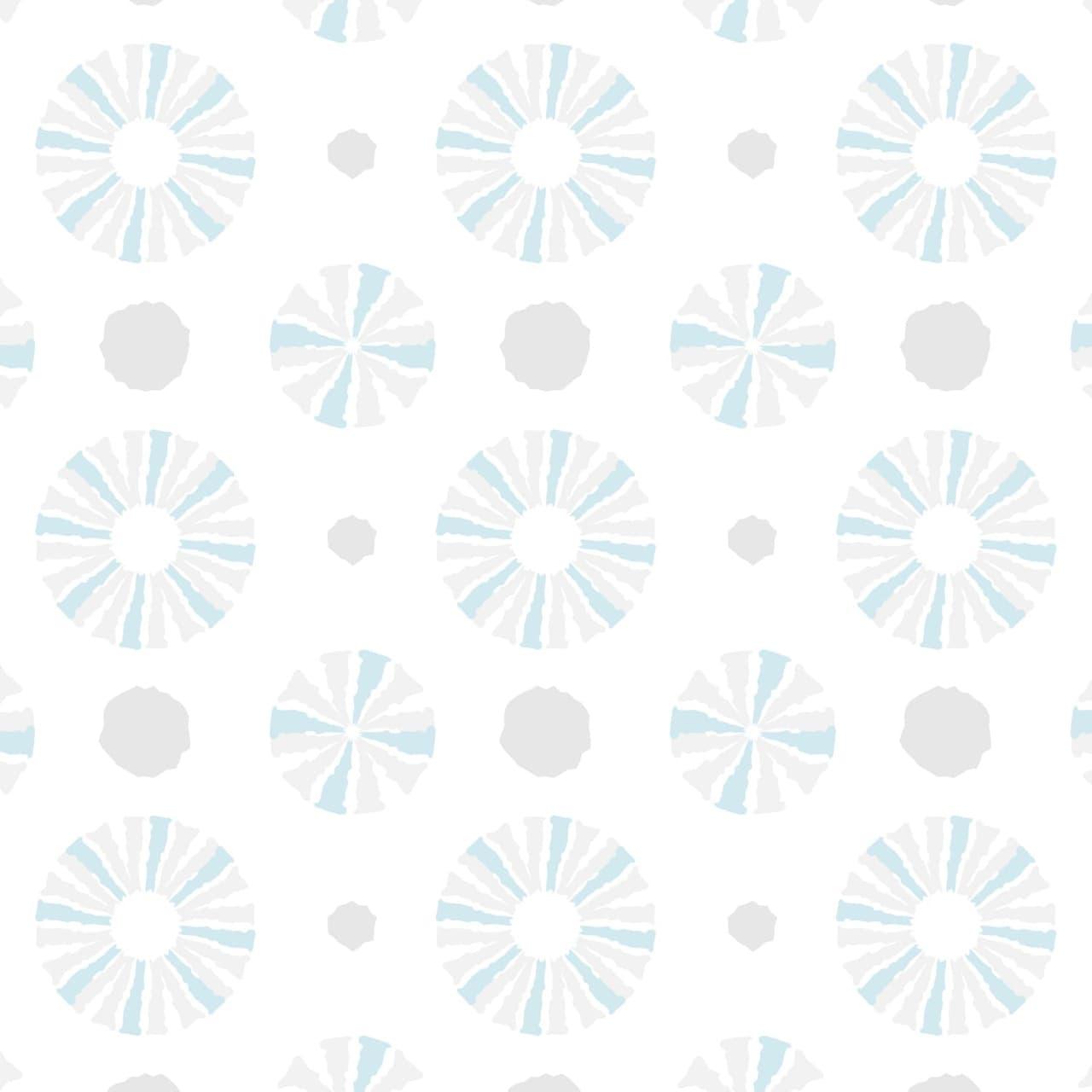 淡いブルーとグレーを使ったラフな円のラッピング素材