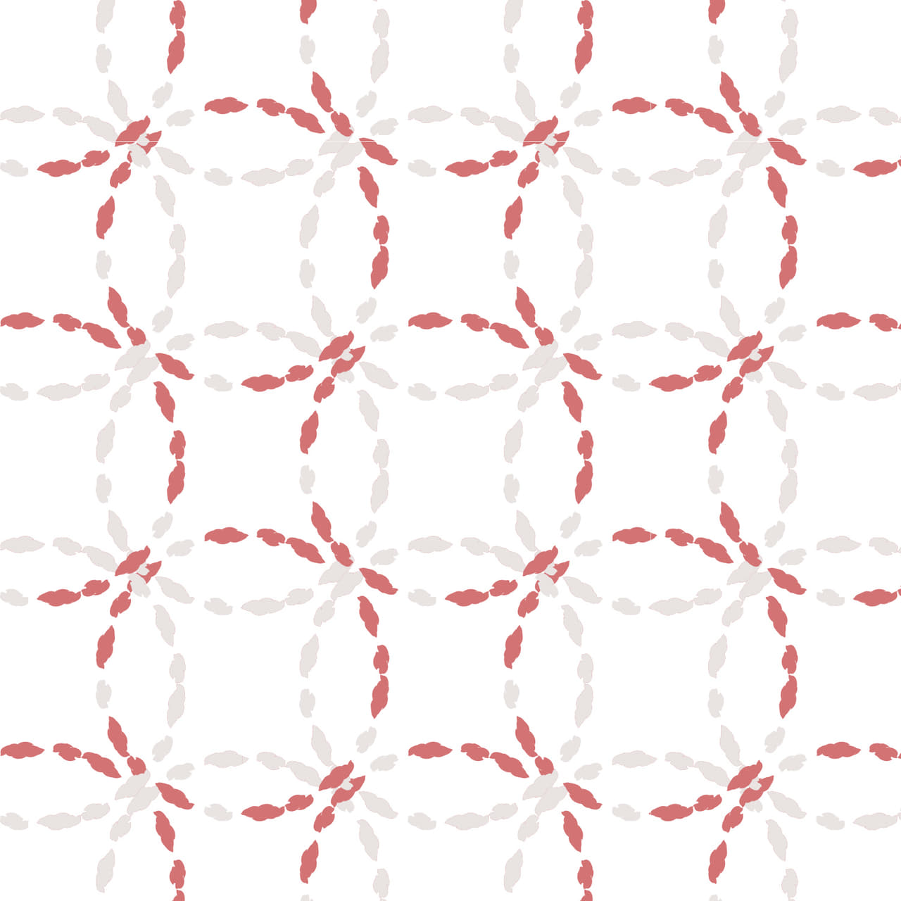 ピンク色の紐で刺繍したような七宝柄のラッピング素材