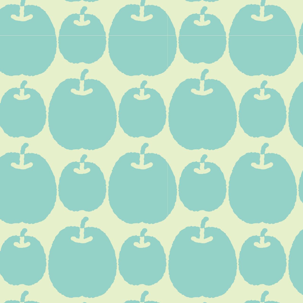 青りんごを並べたラッピング素材