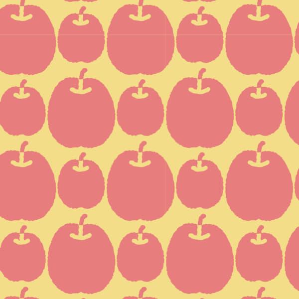 赤りんごを並べたラッピング素材