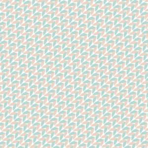 水色とピンク色の毛糸で編んだようなラッピング素材