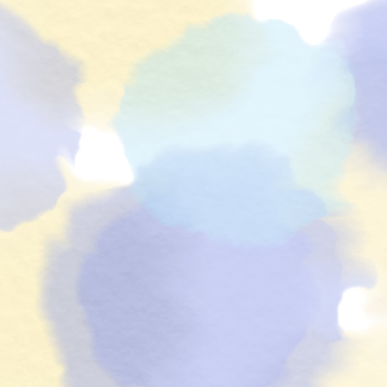 水彩で描いた円をにじませたラッピング素材