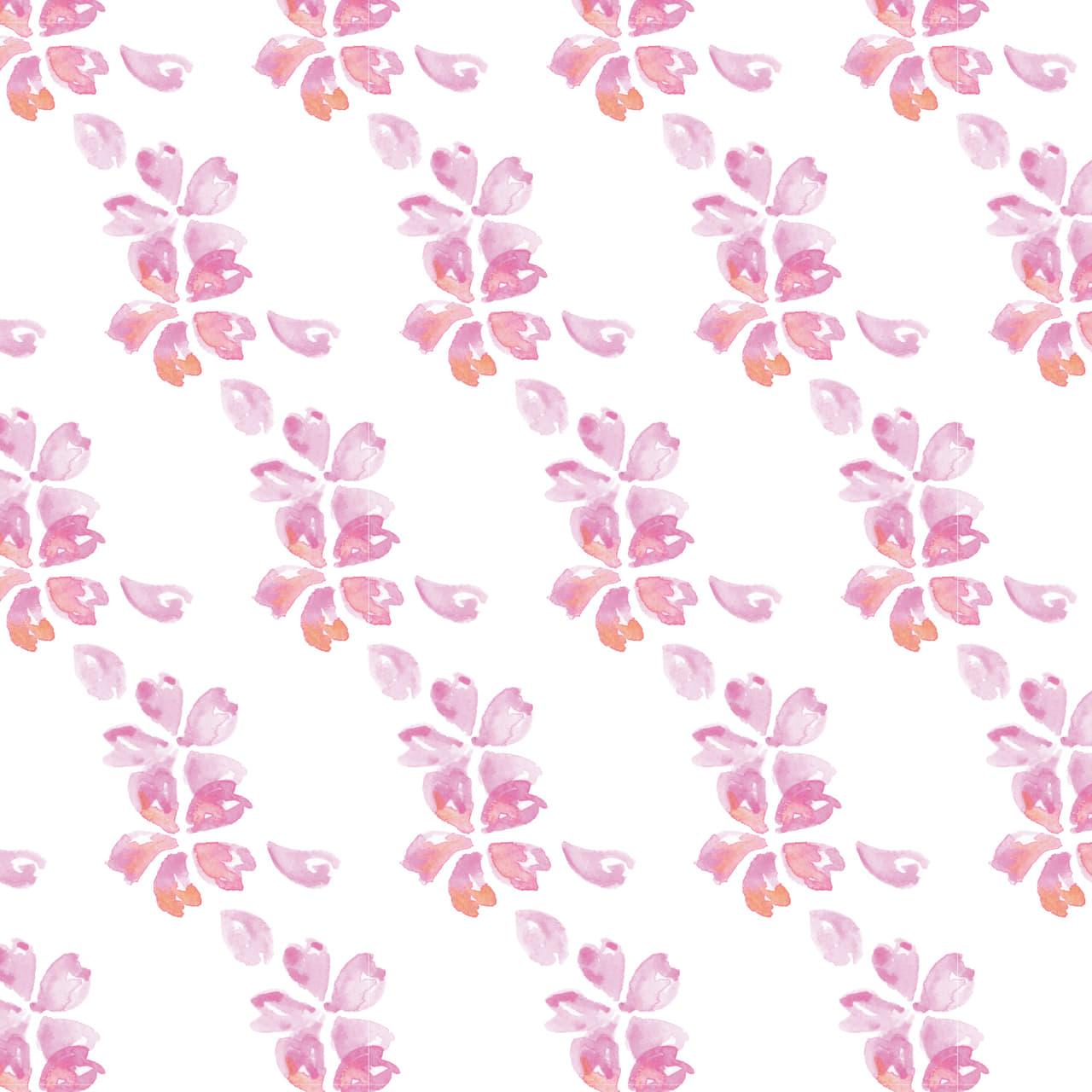 水彩で描いた桜のラッピング素材