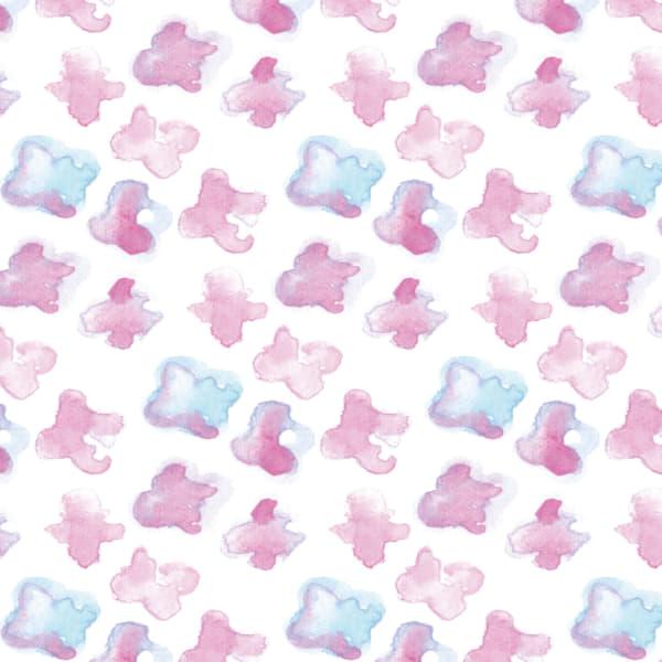 水彩で描いた小さな花のラッピング素材 ピンク色ver