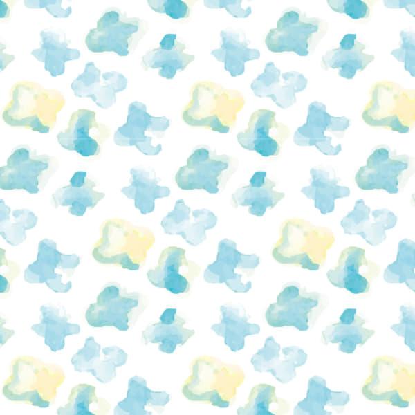 水彩で描いた小さな花のラッピング素材 青色ver