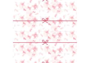 切って使える桜吹雪のかわいいのし紙(4分割)